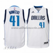 Camisetas Baloncesto Niños Dallas Mavericks 2015-16 Dirk Nowitzki 41# NBA Home